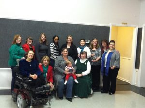 13 LifeLine Ladies at Christmas Dinner