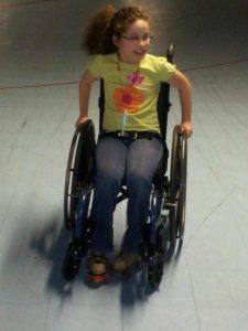 Aly Skating in Wheelchair