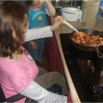 Emily cooking supper