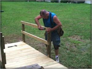LEonard building ramp