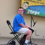 Tim playing the djembe at Make 'Em Smile in Orlando FL.