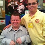 Tim with Patrick, a celebrity speaker, at the McLean Disability Summit, where Tim was working at our booth.